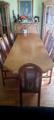 Stol drewniany rozkladany jadalnia +12 krzeseł