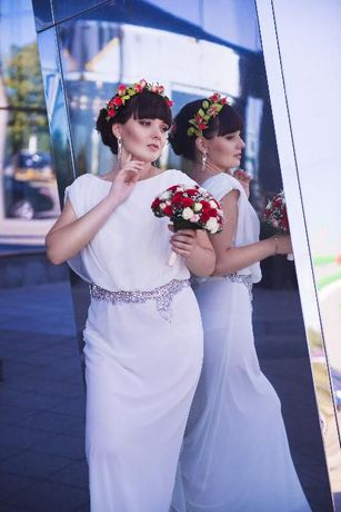 шикарное свадебное платье в греческом стиле