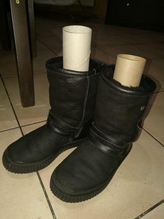 Ciepłe zimowe skórzane buty Bartek dla dziewczynki rozm. 31 środek miś Piaseczno - image 1