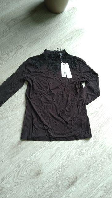 Bluzka Esprit czarna na długi rękaw s m