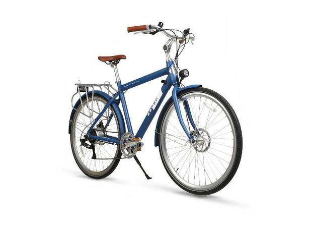 Rower elektryczny City Man iamelectric czarny szary niebieski