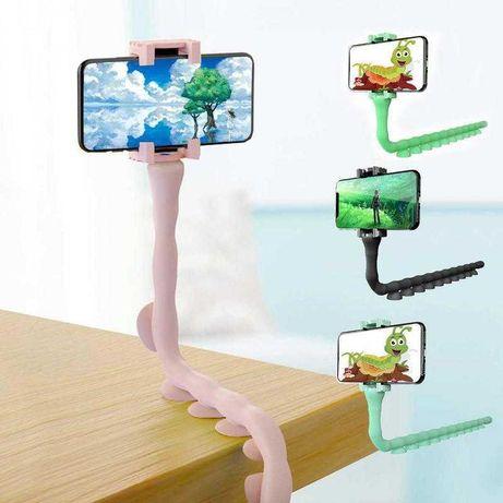 Гибкий штатив - держатель с присосками для телефона, смартфона