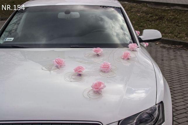 Nowa dekoracja-ozdoba-stroik na samochód do ślubu/auto/wesele