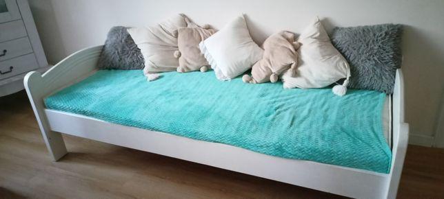 Białe łóżko 80x200