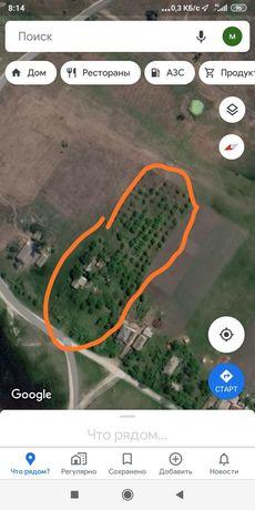 Продам земельный участок с домом в с. Песчанка