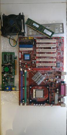 Комплект из MSI 800, Intel Celeron, оперативки на 256 мб, и видюха