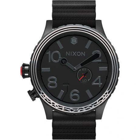 Nixon - Zegarek męski- czarny nowy w folii duży 51 mm