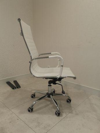 Fotel biały Eco skóra
