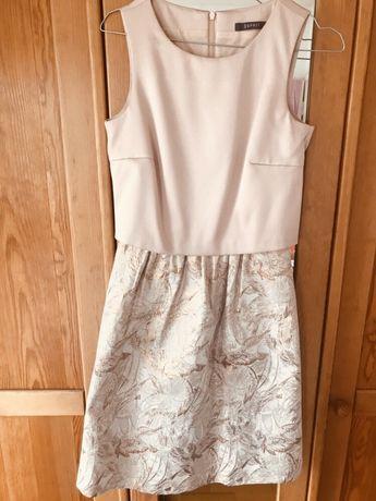 Esprit sukienka koktajlowa weselna studniówka pudrowy roz 34 Xs