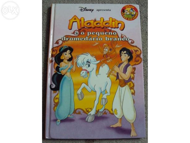"""Livro """"Aladin e o pequeno dromedário branco"""""""