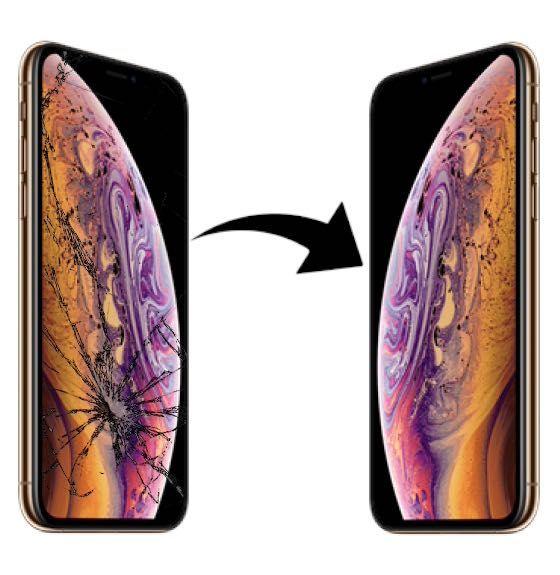 Wymiana zbitej szybki iPhone SE 7 8 X XS 11 plus max pro Łódź naprawa
