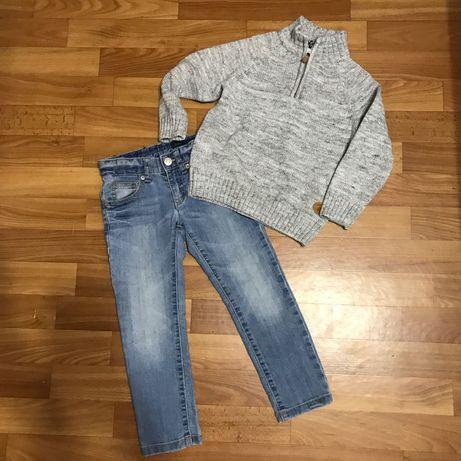 Свитер, джинсы 3-4 года