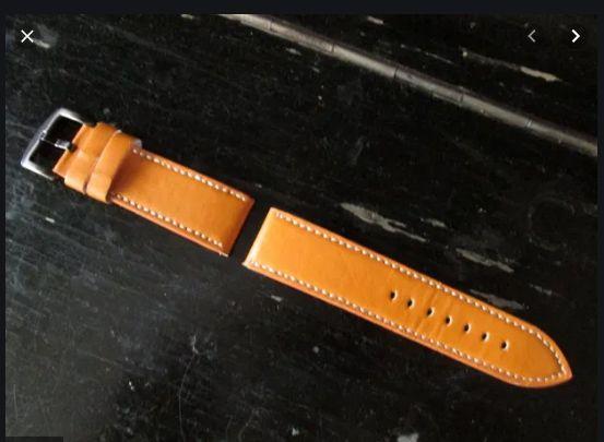 Ремешок на часы широкий кожзам 24 мм