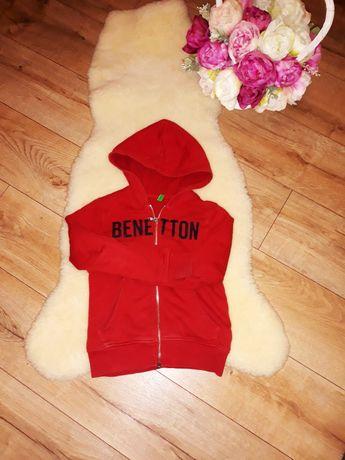 Benetton bluza rozpinana bordo r 122