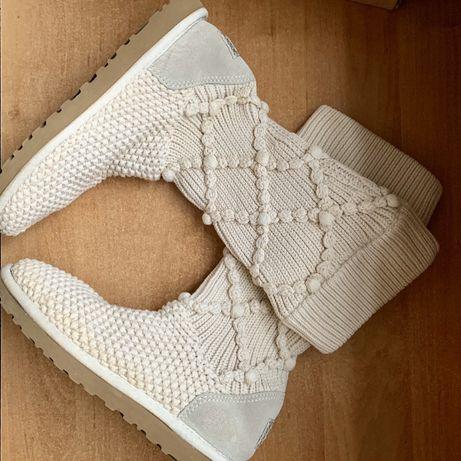 Женские зимние ботинки, угги Classic Argyle Knit Cream Uggi