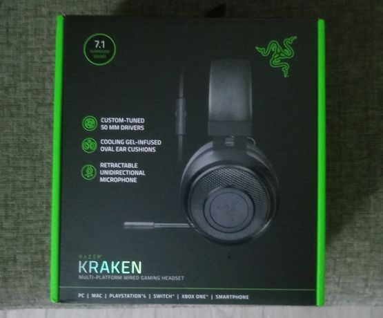 Headset Razer Kraken 7.1 Surround Preto