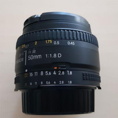 Obiektyw Nikon Nikkor 50mm 1:1.8 D