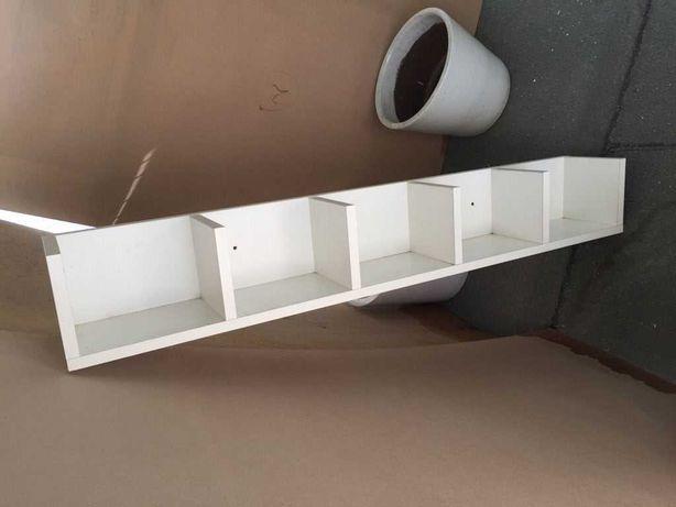 Estante de parede com costas, branca, 120x15x15 cm - IKEA