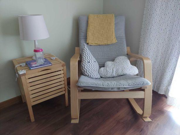 Cadeira de baloiço + movel de apoio |  ikea