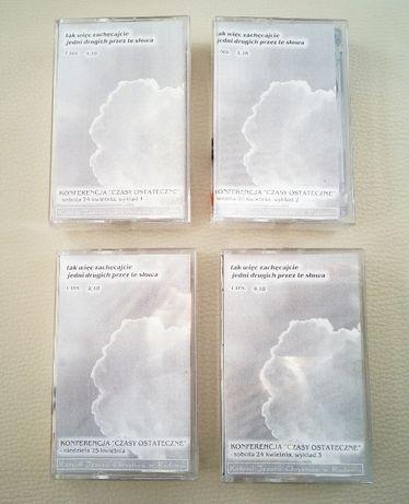 """konferencja """"czasy ostateczne"""" 2004 KJCh w Radomiu kasety 4 kasety"""