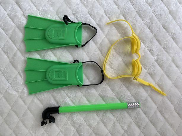 Ласты, очки, трубка для плавания детские