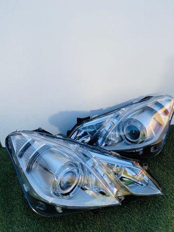 Lampy mercedes w207 bixenon skrętny led idealne europa demontaz