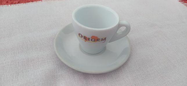 Chavena café com prato - vendido individualmente