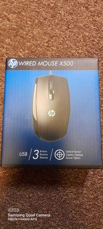 mysz nowa przewodowa HP X500 czarna