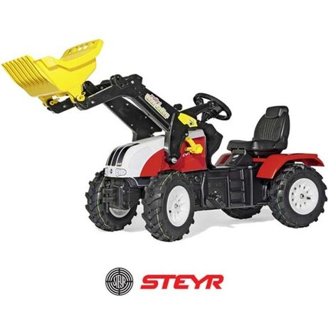 Rolly Toys traktorek dla dzieci Traktor na Pedały Steyr Łyżka 3-8 Lat