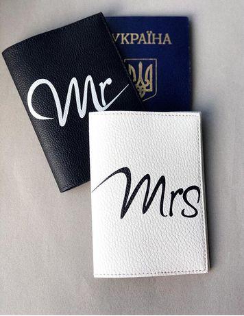 Оболожка для на паспорт, пара, эко-кожа цена за 2 шт