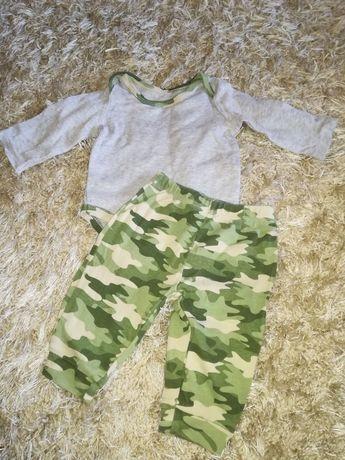 Komplet dres zestaw dla chłopczyka r 62-68 na 6mc moro