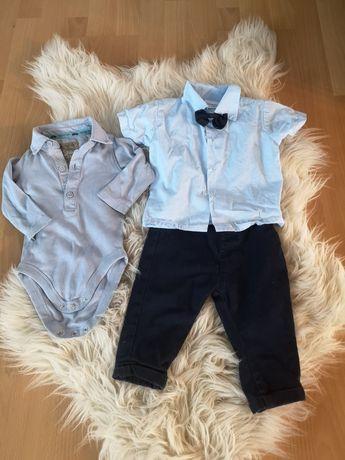 Spodnie koszula i koszulobody  6 do 9mies