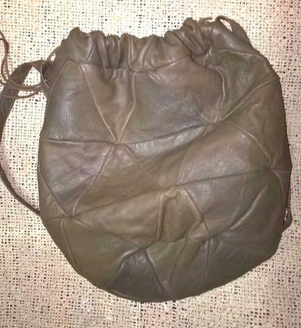 Натуральная кожаная сумка на плечо для одежды для спорта