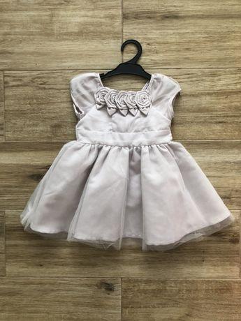 Wysyłka za 1zł! Elegancka tiulowa szara sukienka Coolclub 68
