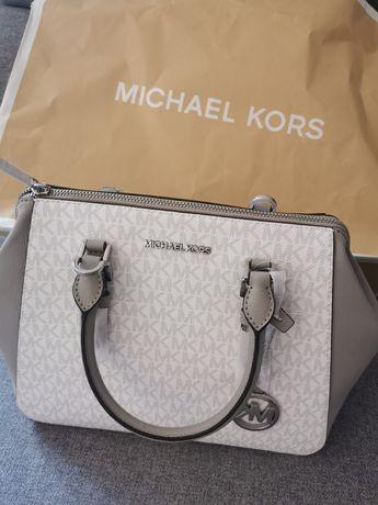 Nowa torebka Michael kors szaro biała kuferek