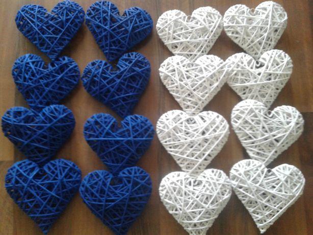 Serca z wikliny papierowej 16cm