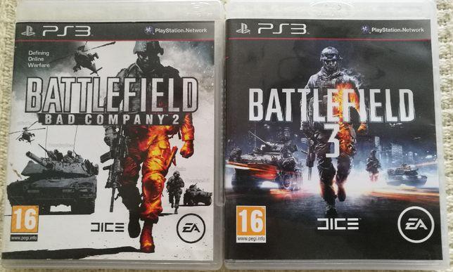 GRY PS3 - BATTEFIELD 2, 3 - 2 Części - Playstation 3 - Zestaw Gier