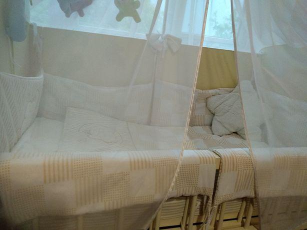 Бортики+балдахін+ ковдра і подушечка