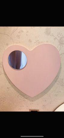 Дзеркало в дитячу кімнату, дзеркало для дівчат формі скрдечка