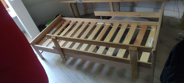 SNIGLAR  Rama łóżka z dnem z listew, buk70x160 cm