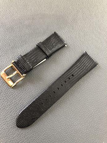 Skórzany pasek do zegarka MIchael Kors Bradshaw Czarny MKT9007