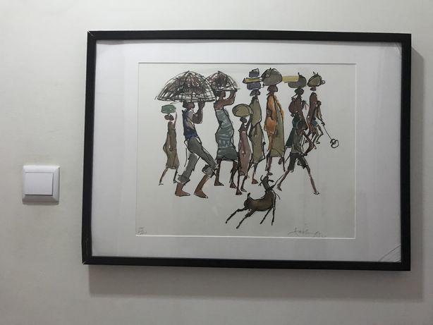 Serigrafia Jose Padua 7/20 PA motivo Africa