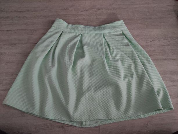 Miętowa spódnica S