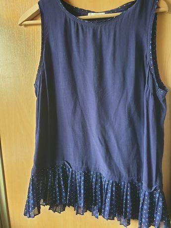 granatowa bluzka damska bez rękawków koszulka bluzeczka xl