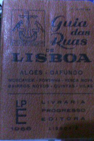 Livro guia cidade Lisboa antigo