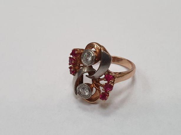 Przepiękny! Złoty pierścionek/ 500/ 7.5 gram/ R19/ Wycena/ Brylanty