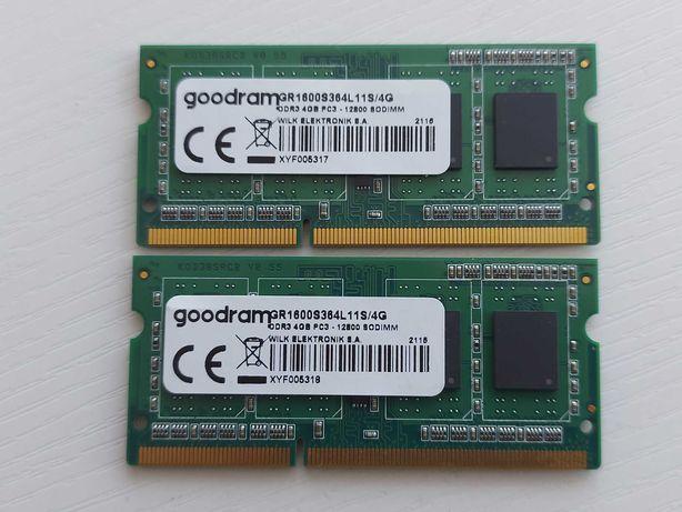 Новая память для ноутбука 2х4GB Goodram SODIMM DDR3-1600 PC3-12800