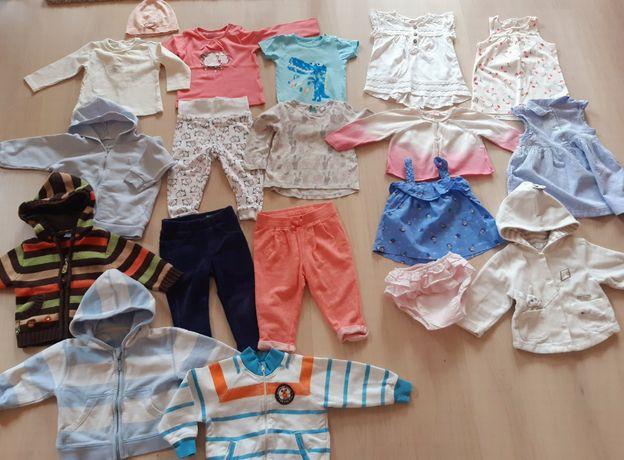 74 cm Mayoral, Benetton, HM, sukienki, bluzy, body, spodnie