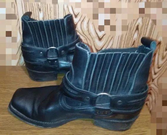 """Ботинки """"Ковбойские"""" 42 р. Кожаные Утепленные с мехом челси"""