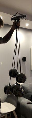 Lampa Zyrandol chromowane kule loft